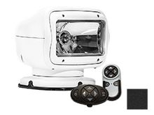 GoLight GT Halogen Permanent Mount Spotlight with Wireless Handheld and Dash Mount Remotes - Available in White (2007GT) or Black (2057GT)