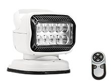GoLight GT LED Portable Mount Spotlight with Wireless Handheld Remote and Permanent Mount Shoe - White (79004GT)