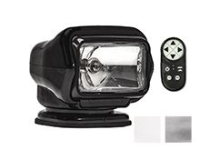 GoLight Stryker ST Halogen Permanent Mount Spotlight with Wireless Handheld Remote - Available in Black (3051ST), White (3000ST) or Chrome (3006ST)