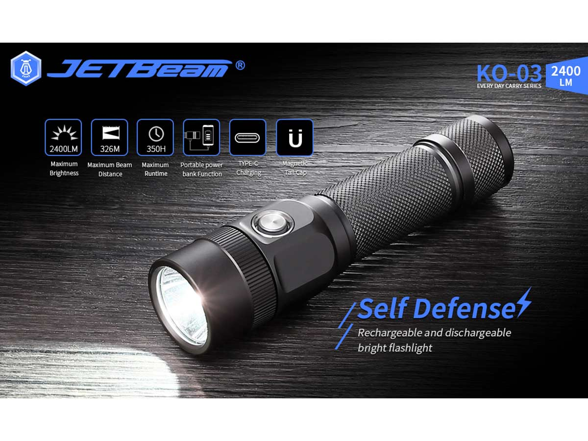 jetbeam ko-03 manufacturer slide about key features and selling points