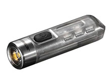 Jetbeam Mini One SE Keychain Rechargeable LED Flashlight- 500 Lumens - CREE XP-G3 - Includes Built-In Li-ion Battery Pack