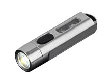 Jetbeam MINI-ONE USB-C Rechargeable LED Flashlight- 500 Lumens - CREE XP-G3 - Includes Built-In Li-ion Battery Pack - Silver