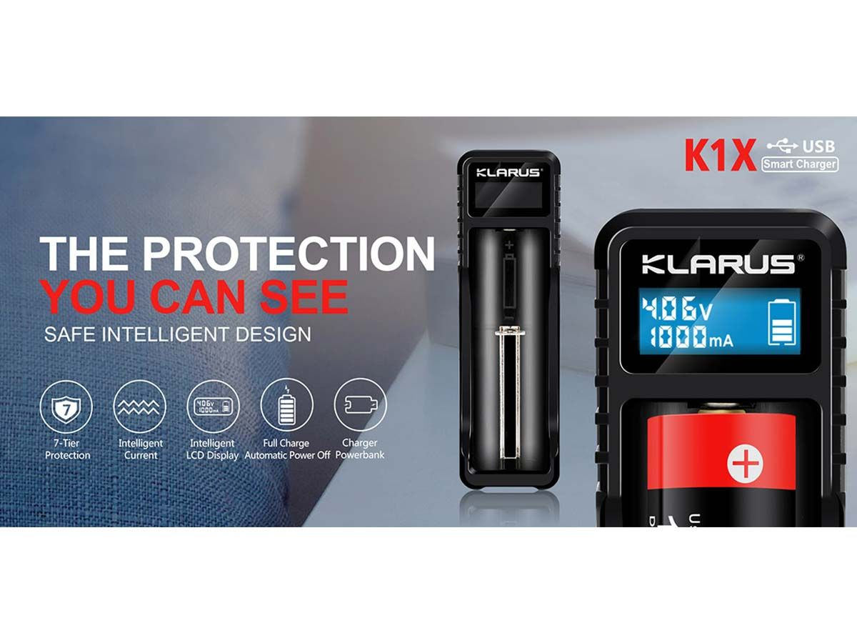 klarus k1x manufacturer slide about auto shut off mode