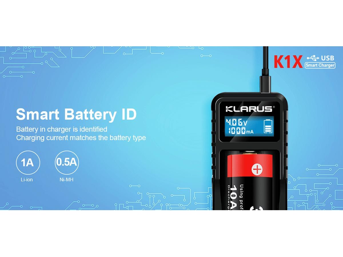 klarus k1x manufacturer slide about jump starting dead batteries