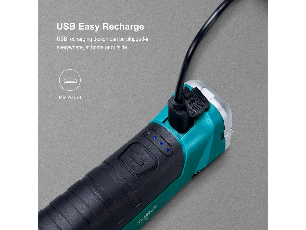 slide about the micro usb charging and charge indicator