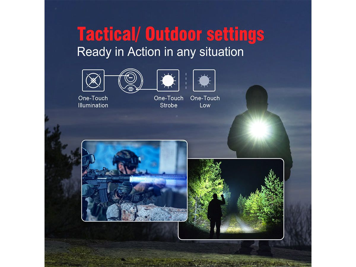 manufacturer slide with key features 2100 lumens 240 meter throw