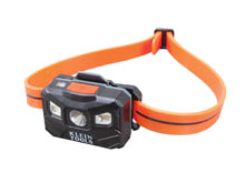 Klein Tools Rechargeable Auto-Off Headlamp - 200 and 100 Lumens - Includes 3.7V Li-ion Battery Pack (56034)