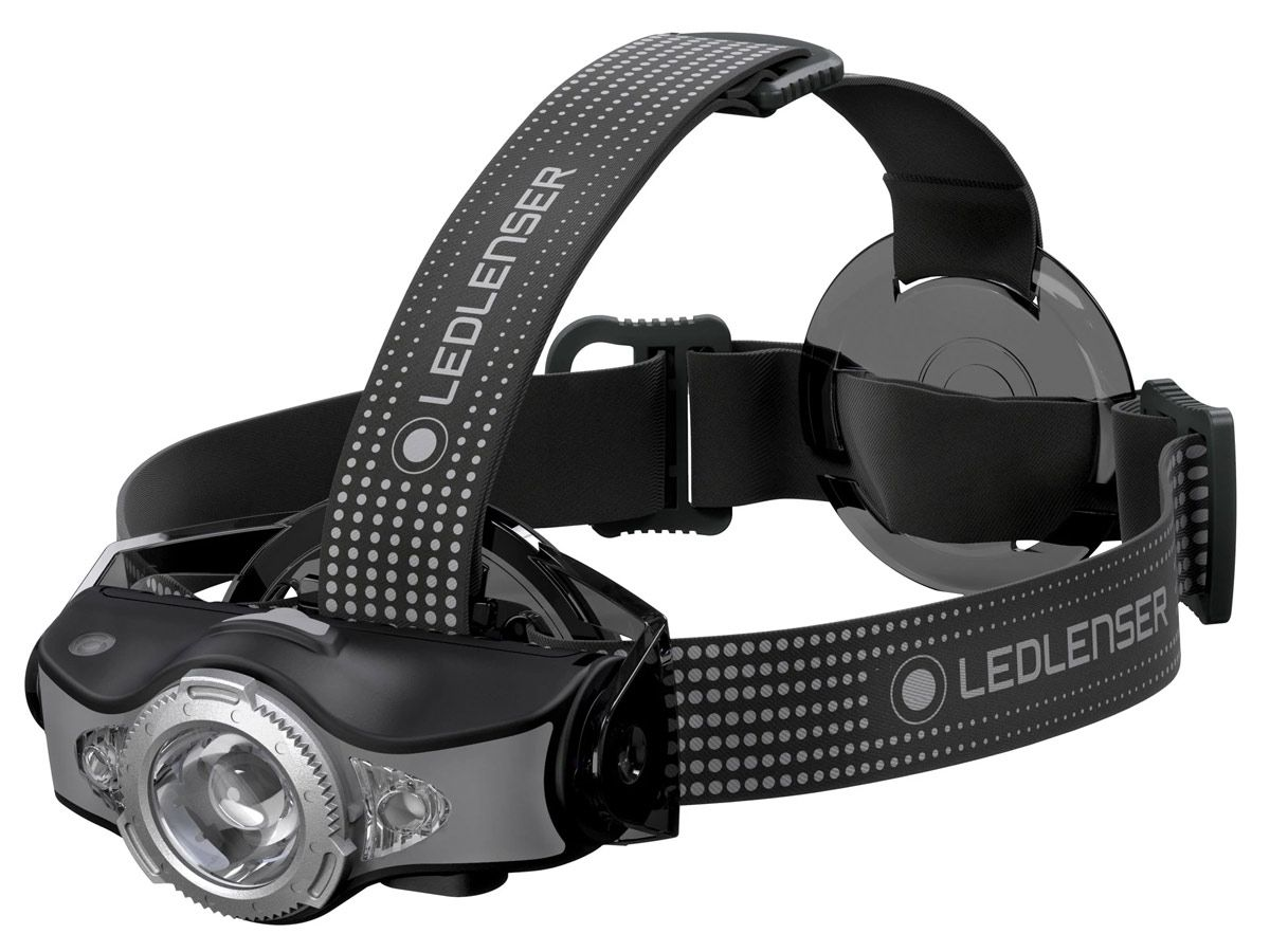 Ledlenser MH11 headlamp in black left side angle