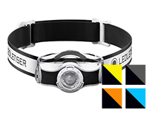 Ledlenser MH3 LED Headlamp - 200 Lumens - Includes 1 x AA - Available in White, Yellow, Black, Orange, or Blue