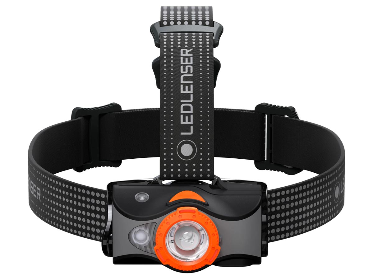 Ledlenser MH7 Headlamp - Orange (880541) - Front 1