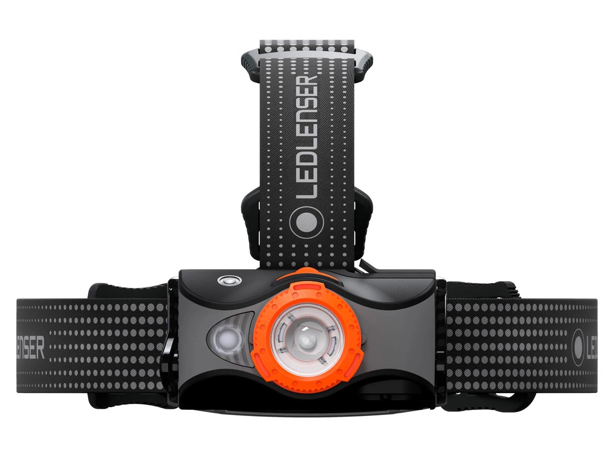 Ledlenser MH7 Headlamp - Orange (880541) - Front 2