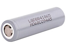 LG B4 INR 18650 2600mAh 3.6V High-Drain 5A Lithium Ion (Li-ion) Unprotected Flat Top Battery - Boxed