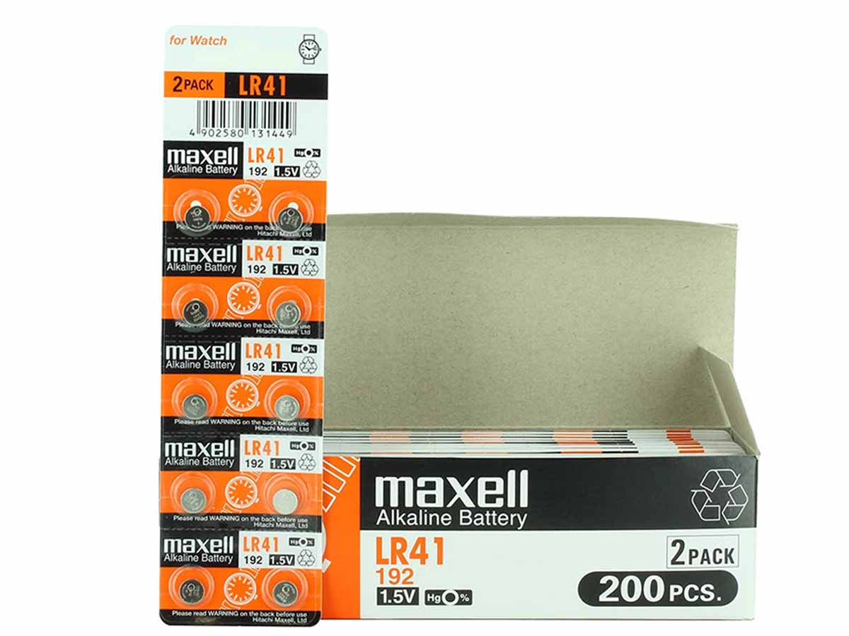 Maxell LR41 with box and tear strip