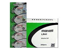 Maxell LR41 1.5V Alkaline Coin Cell Battery (AG3 392 192) - 1 Piece Tear Strip, Sold Individually - Hologram Packaging