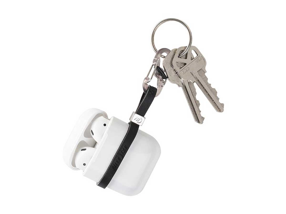 Nite Ize Cinch-A-Lot Mini Stretch Strap Adjustable Slider and Strap Holds Earbuds Cases Hand Sanitizer and Lip Balm Mint