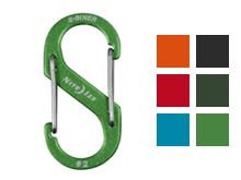Nite Ize S-Biner #2 Carabiner Blue, Charcoal, Lime, Orange, Olive Green, and Red
