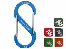 Nite Ize S-Biner #4 Carabiner Blue, Charcoal, Lime, Orange, Olive, Red