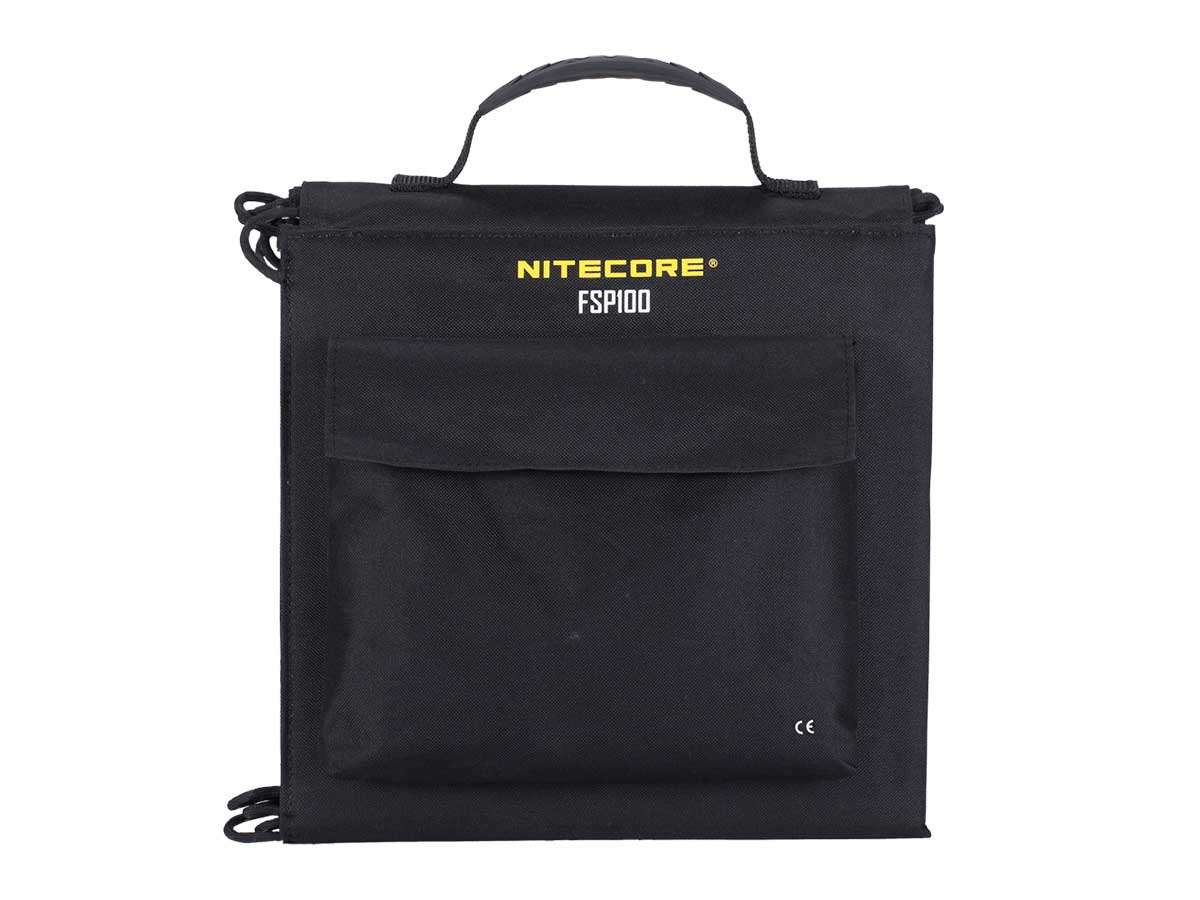 Nitecore FSP100 folded in carrying case