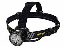 Nitecore HU60 USB Powered Elite LED Headlamp - 4 x CREE XP-G3 S3 - 1600 Lumens - Powered by USB Device