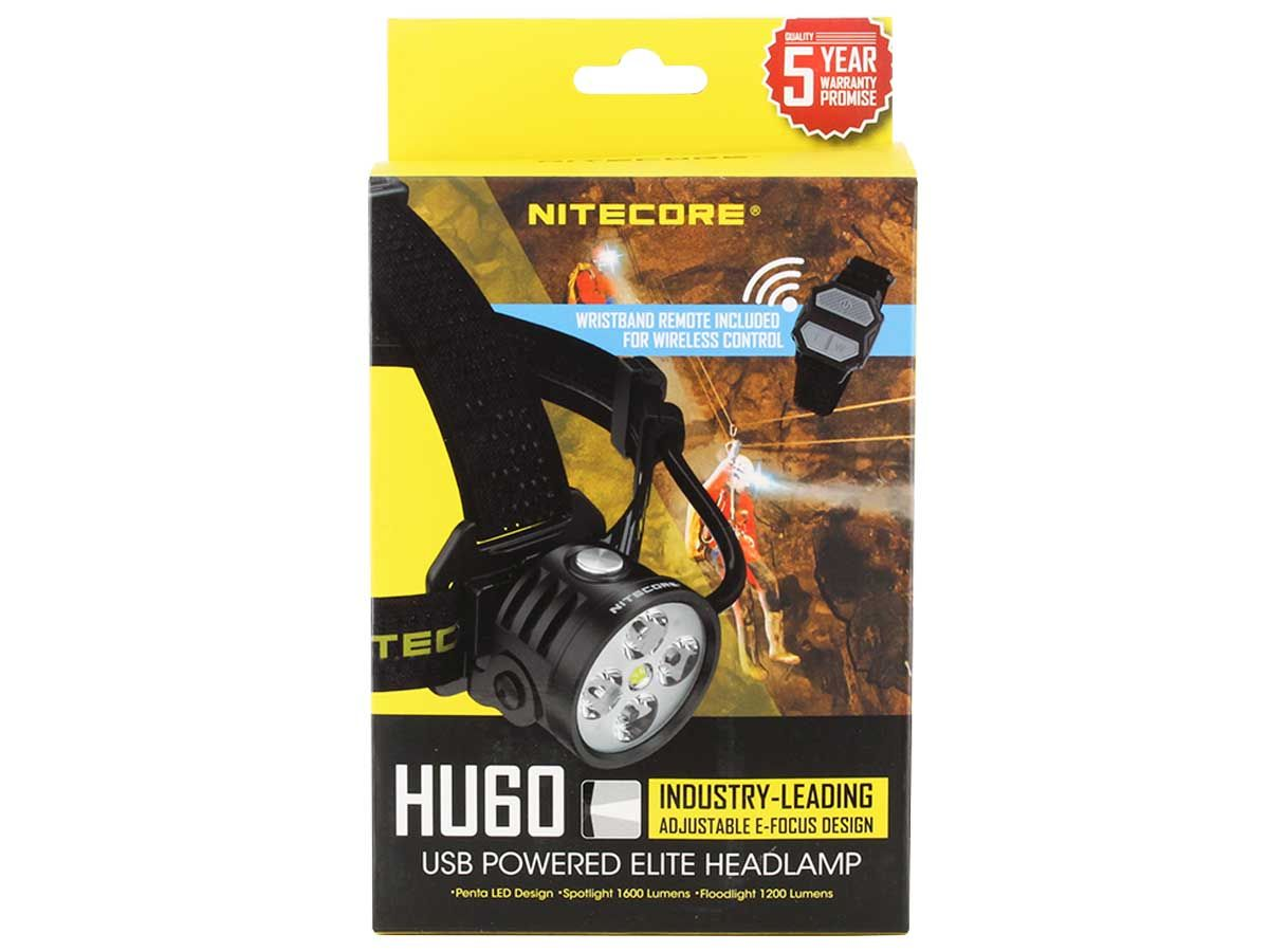 Nitecore HU60 packaging
