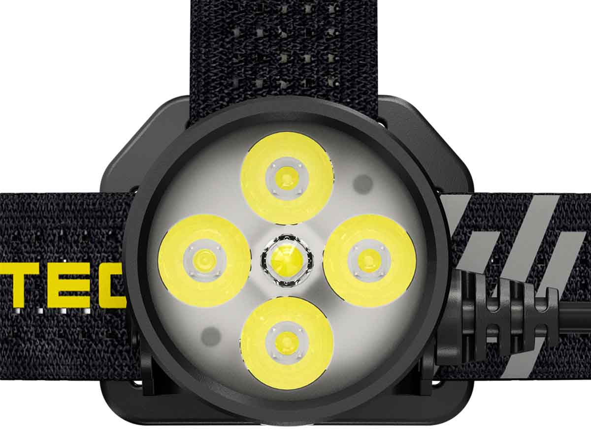 Nitecore HU60 close up of LED