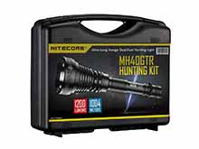 Nitecore MH40GTR Hunting Kit - CREE XP-L HI V3 LED - 1200 Lumens - Includes 2 x 18650, Lanyard, NFR70 Filter, NFG70 Filter, Tactical Ring, Holster, RSW1 Remote Switch, AC Adapter and GM02 Mount