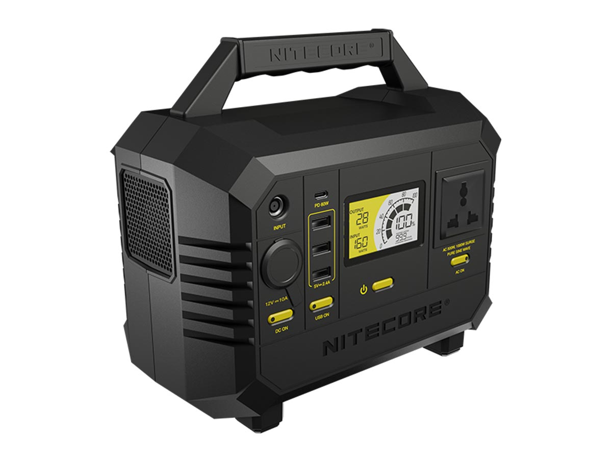 nitecore nes500 power station angled facing the right