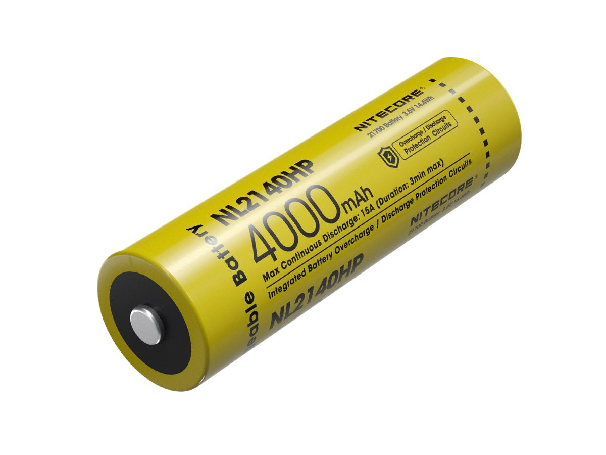 Nitecore NL2140HP 21700 Battery in packaging upright