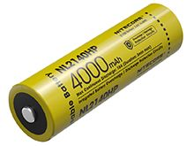 Nitecore NL2140HP High Performance 21700 4000mAh 3.6V 15A Protected Lithium Ion (Li-ion) Button Top Battery