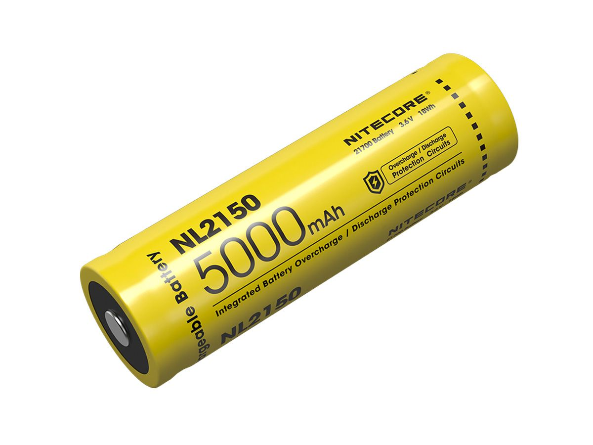 Nitecore NL2150 21700 battery retail blister card front