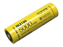 Nitecore NL2150 21700 5000mAh 3.6V Protected Lithium Ion (Li-ion) Button Top Battery - Retail Card