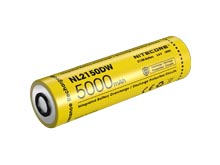 Nitecore NL2150DW 21700 5000mAh 3.6V Protected Lithium Ion (Li-ion) Button Top Battery for the R40 V2