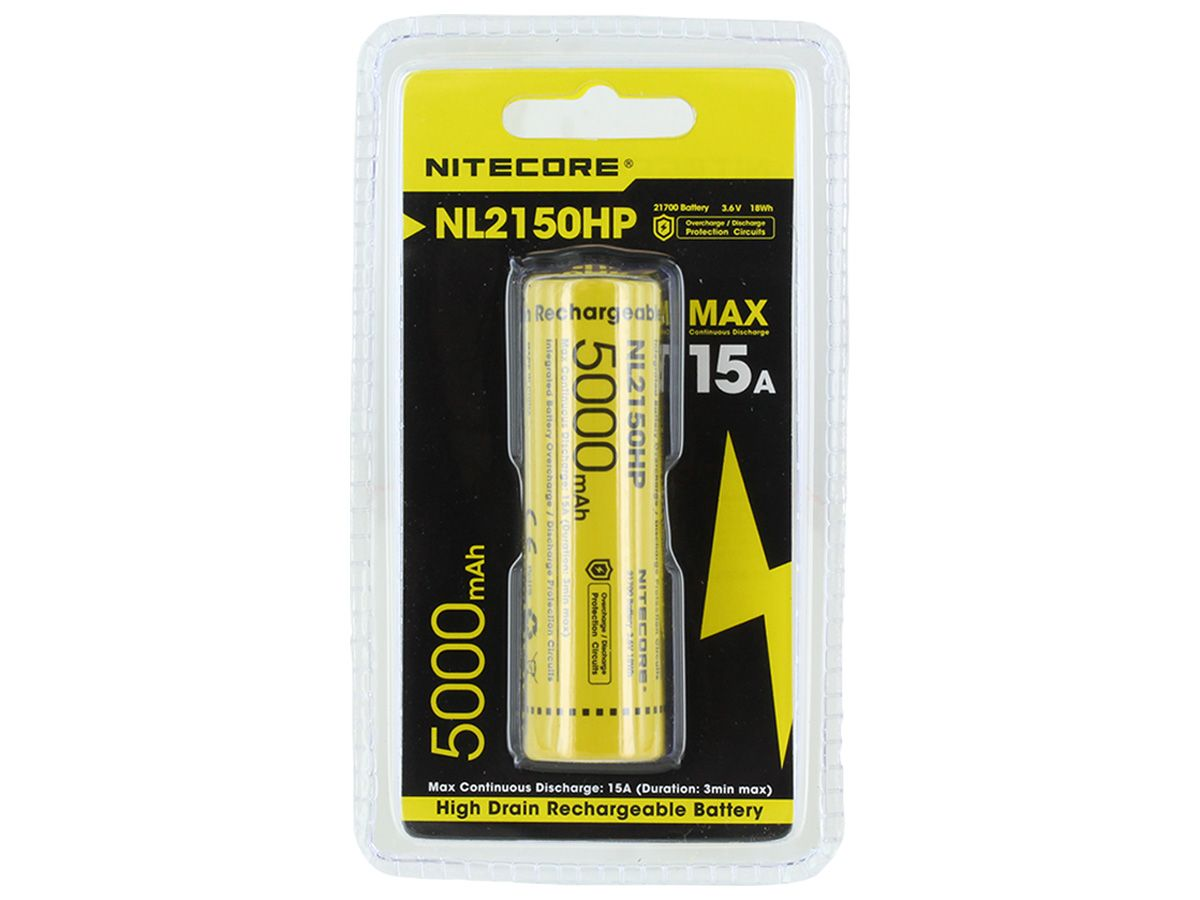 Nitecore NL2150HP 21700 High Performance Battery Packaging