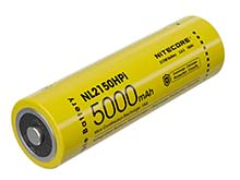 Nitecore NL2150HPi 21700 5000mAh 3.6V i Series Protected Lithium Ion (Li-ion) Button Top Battery