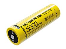 Nitecore NL2150HPR 21700 5000mAh 3.6V High Drain Protected Lithium Ion (Li-ion) Button Top Battery with Built-In USB-C Charging Port