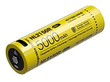 Nitecore NL2150R 21700 5000mAh 3.6V Protected Lithium Ion (Li-ion) Button Top Battery with Built-In USB-C Charging Port