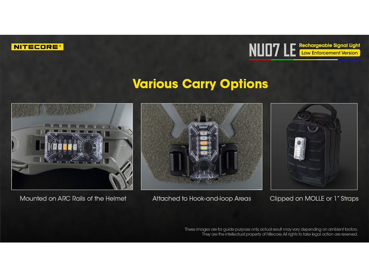 nu07le slide about different carrying options