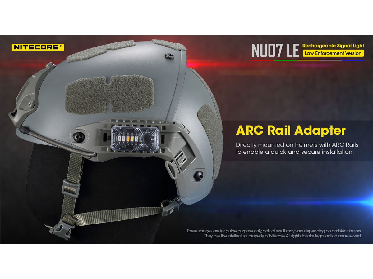 nu07le slide about arc rail adapter