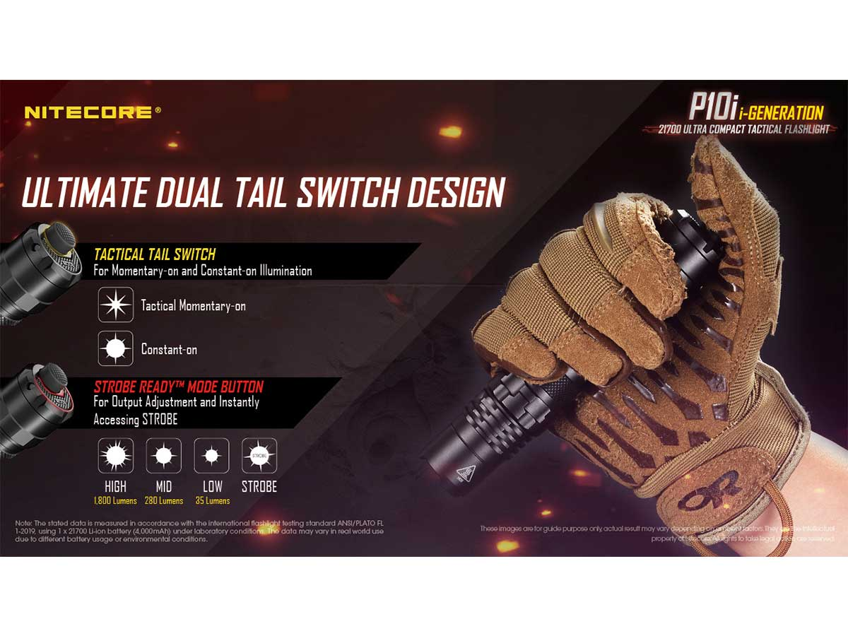 p10i manufacturer slide about dual tail switch