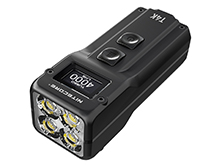 Nitecore T4K USB-C Rechargeable Keychain LED Flashlight - 4 x CREE XP-L2 V6 - 4000 Lumens - Uses 3.7V 1000mAh Battery Pack