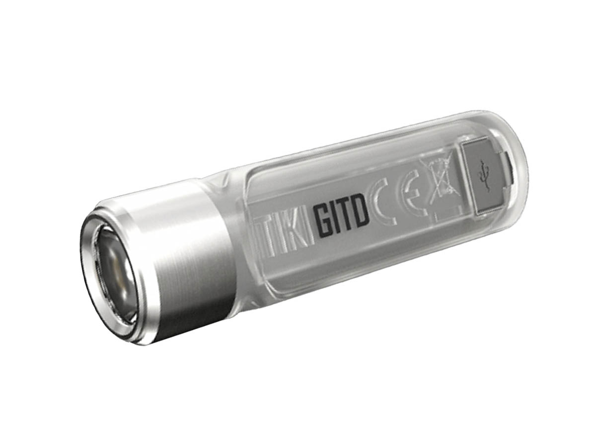 Nitecore TIKI GITD Rechargeable LED Keylight - High CRI and UV LED - 300 Lumens - Uses Built-in Li-ion Battery Pack