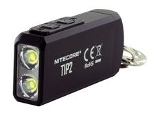 Nitecore TIP 2 Rechargeable LED KeyLight - 2 x CREE XP-G3 S3 - 720 Lumens - Uses Built-In 500mAh Li-ion Battery Pack