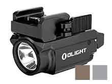 Olight Baldr Mini Rechargeable LED Pistol Light with Green Laser - 600 Lumens - Uses Built-In 3.7V 230mAh Li-Poly Battery Pack - Black, Desert Tan, or Gunmetal Grey (Limited Edition)