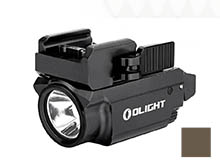 Olight Baldr Mini RL Rechargeable LED Weapon Light with Red Beam - 600 Lumens - Includes Built-In 3.7V 230mAh Li-Poly Battery Pack - Black or Desert Tan (Limited Edition)