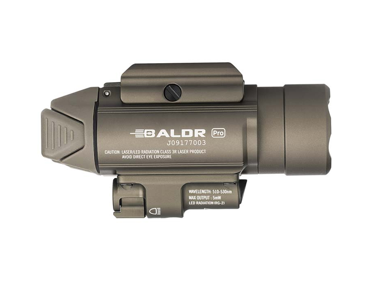 olight baldr pro tan pointed right