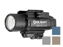 Olight Baldr Pro Weapon Light with Green Laser - Black, Desert Tan, Gunmetal Grey (Limited Edition) or Midnight Blue (Limited Edition) - 1350 Lumens - Includes 2 x CR123A