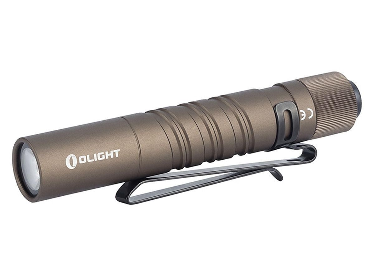 olight i3t tan angled down and to the left