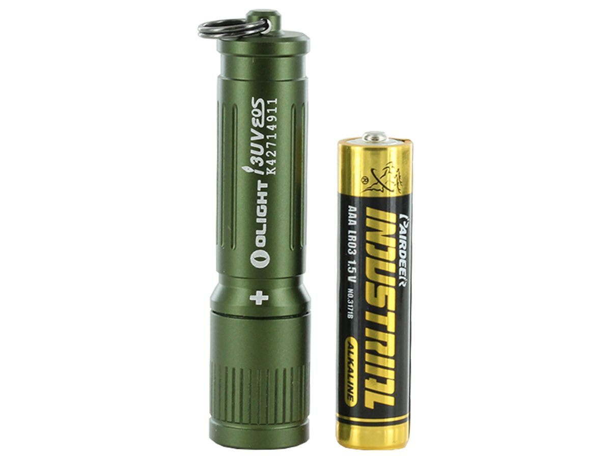 olight i3uv with included alkaline aaa battery