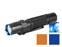 Olight M2R Pro Rechargeable LED Flashlight - 1800 Lumens - 21700 Battery and MCC3 Charger Included - Bundle Available - Black, Blue (Limited Edition), Orange (Limited Edition), or Ocean Camouflage (Limited Edititon)