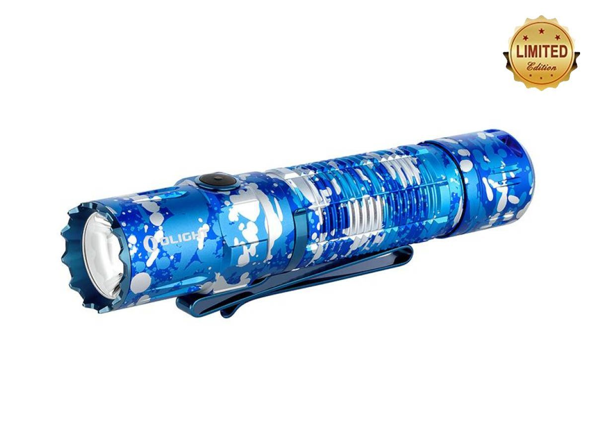 olight m2r pro blue angled down and left